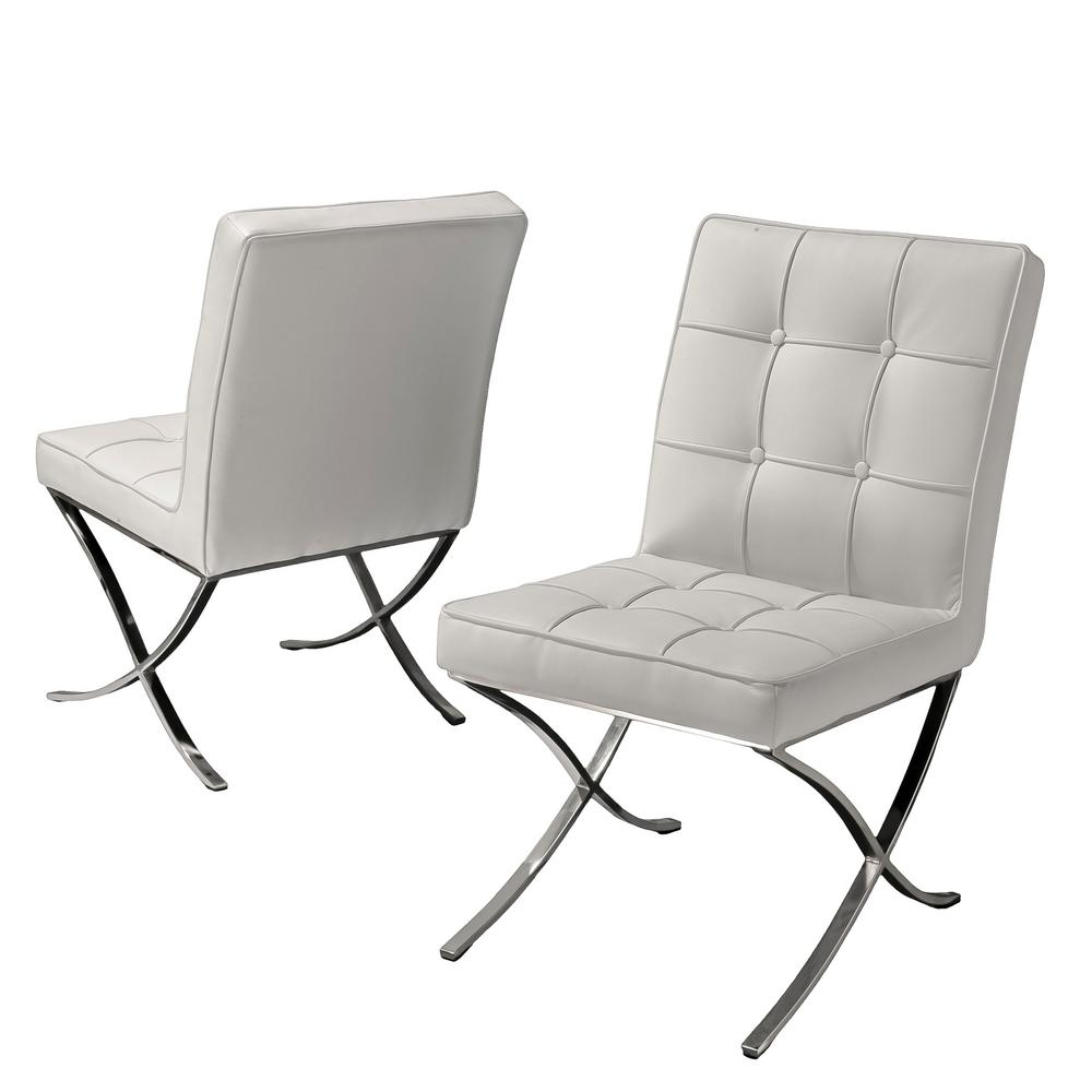 white leather chairs dining wegner ch07 shell chair noble house milania set of 2 216324