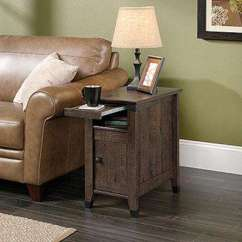 Cheap Side Tables For Living Room Light Grey Curtains Accent Furniture The Home Depot Carson Forge Coffee Oak Storage Table