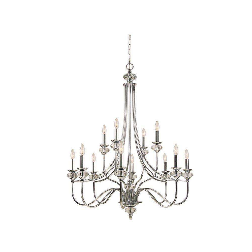Hampton Bay Nottinghill Collection 12-Light Chrome