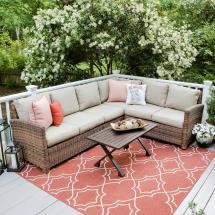 Leisure Dalton 5-piece Wicker Outdoor Sectional Set