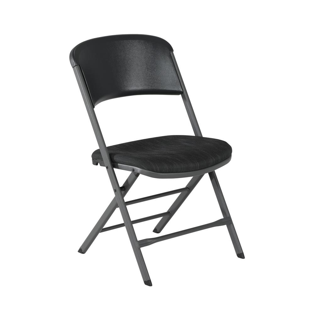 Lifetime Chair Lifetime Charcoal Gray Fabric Padded Seat Folding Chair