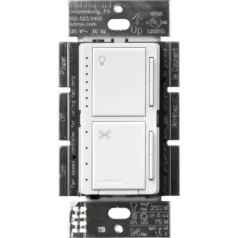 medium resolution of lutron maestro fan control and light dimmer for dimmable leds incandescent and halogen bulbs