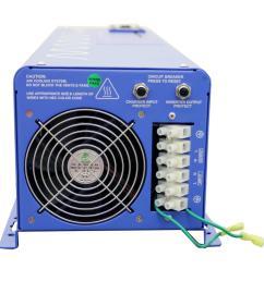 6 000 watt pure sine inverter charger 48 volt dc to 120 volt ac [ 1000 x 1000 Pixel ]