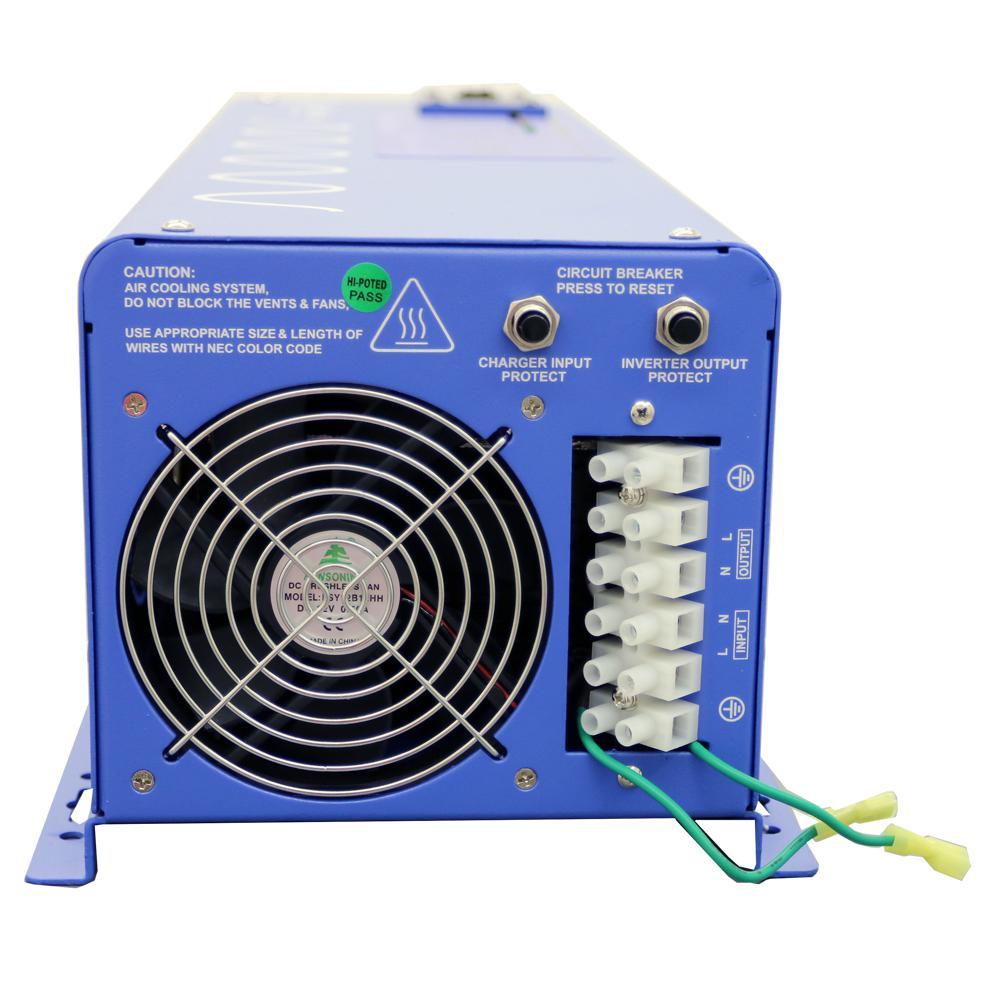 medium resolution of 6 000 watt pure sine inverter charger 48 volt dc to 120 volt ac
