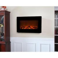 Fire Sense 30 in. Wall-Mount Electric Fireplace in Black ...