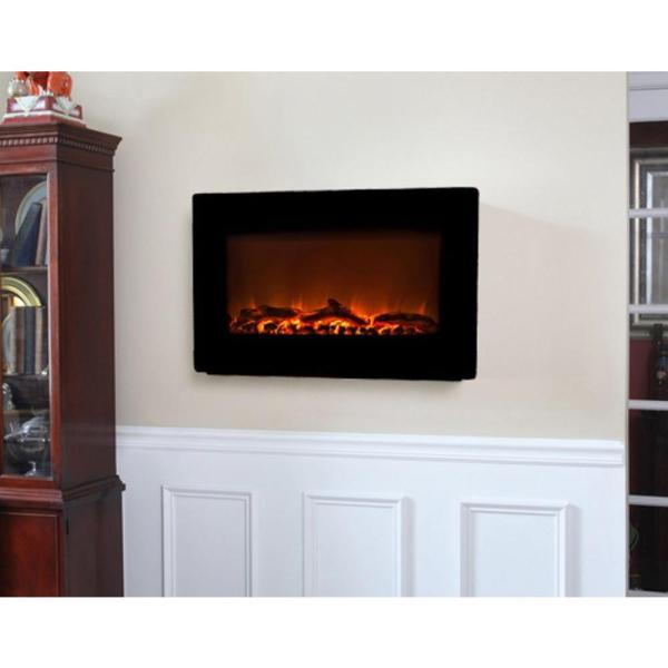 Fire Sense 30 In. Wall-mount Electric Fireplace In Black