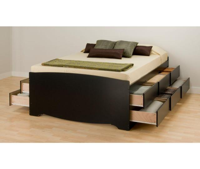 Prepac Queen Wood Storage Bed