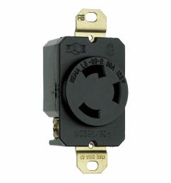 legrand pass and seymour turnlok 30 amp single locking single outlet black [ 1000 x 1000 Pixel ]