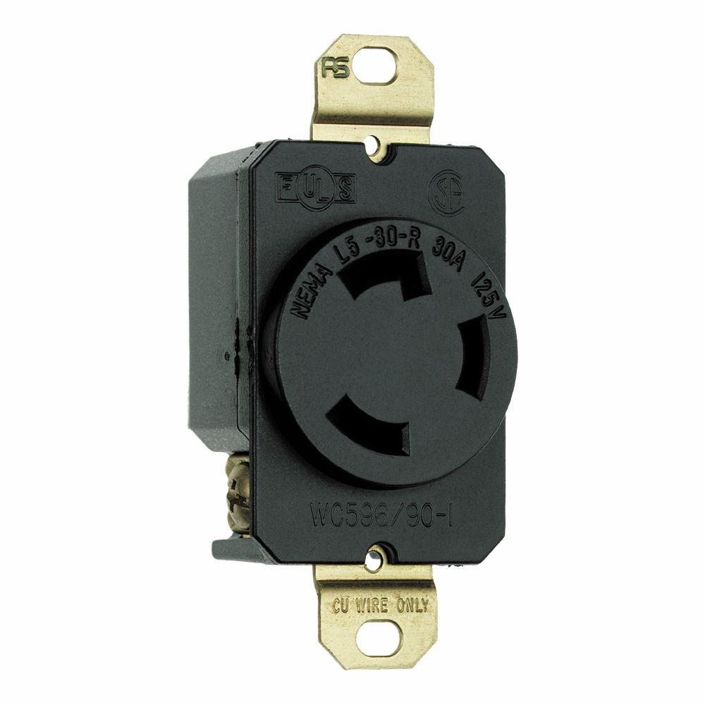 hight resolution of turnlok 30 amp single locking single outlet black