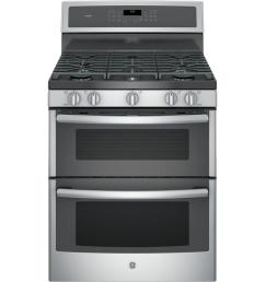 ge profile 30 in 6 8 cu ft double oven gas range with self [ 1000 x 1000 Pixel ]