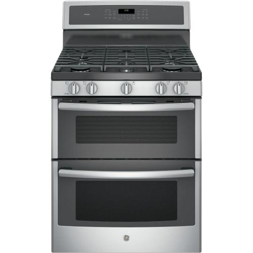 small resolution of ge profile 30 in 6 8 cu ft double oven gas range with self