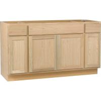 Assembled 60x34.5x24 in. Sink Base Kitchen Cabinet in ...