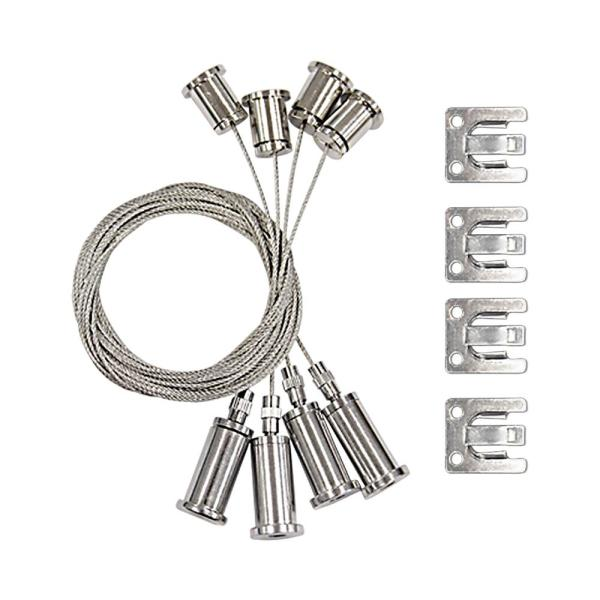 Euri Lighting 4 ft. Suspension Wire Cord for LED Flat