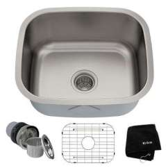Square Kitchen Sink Island With Stools Stainless Steel Sinks The Home Depot Premier Undermount 20 In Single Bowl