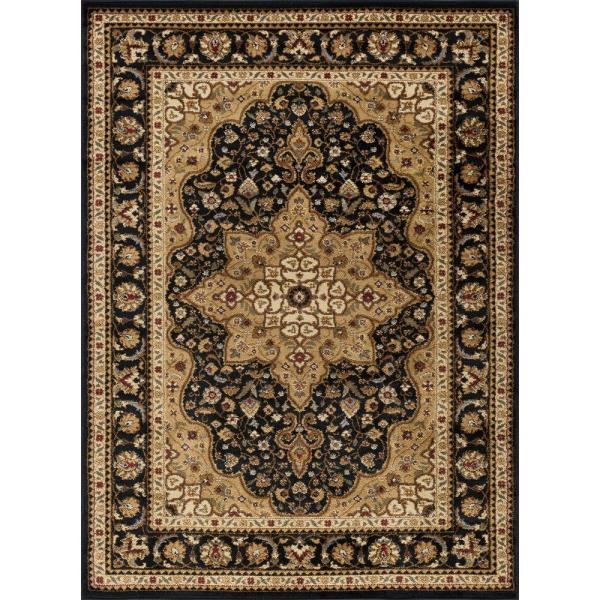Tayse Rugs Elegance Black 9 Ft. X 13 Traditional Area
