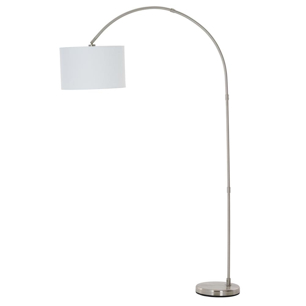 Adesso 78 in. Arc Floor Lamp with Burlap Shade