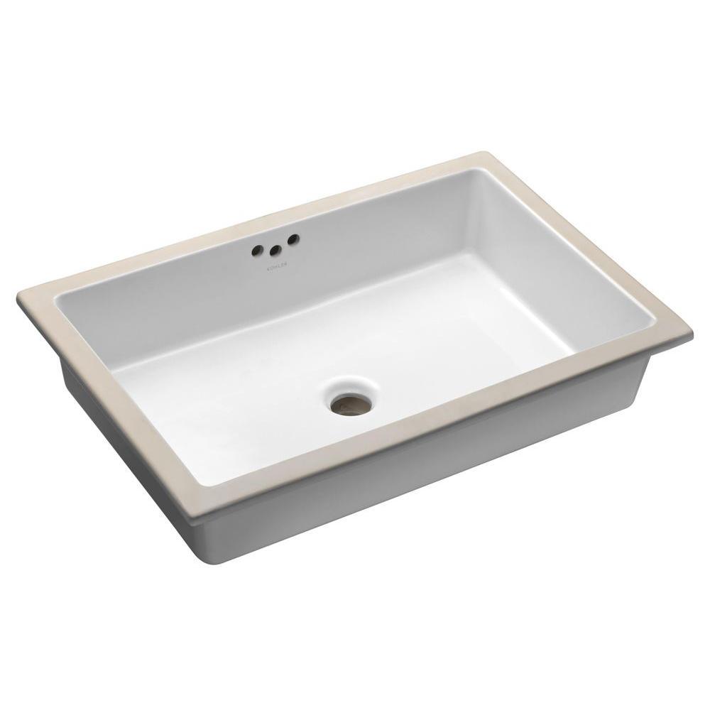 KOHLER Kathryn Vitreous China Undermount Bathroom Sink