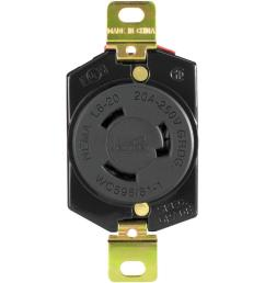 eaton hart lock industrial grade 20 amp 250 volt receptacle with safety grip  [ 1000 x 1000 Pixel ]
