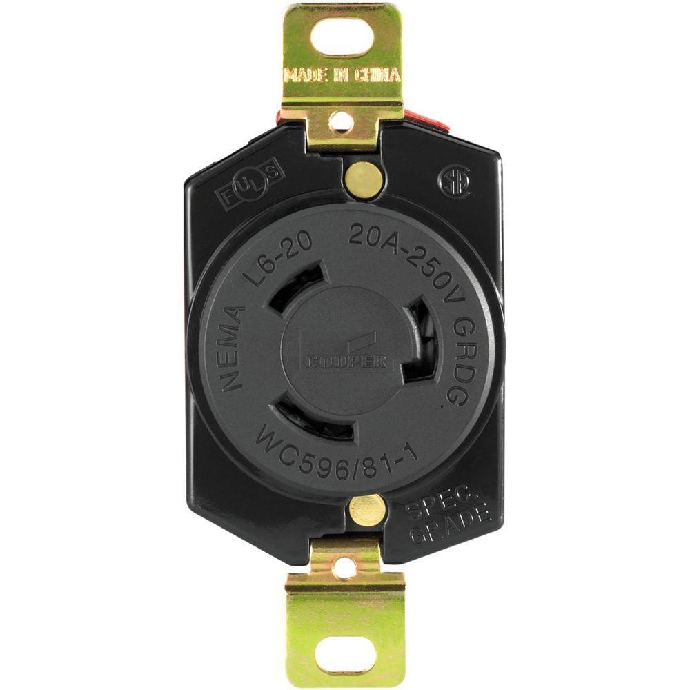 medium resolution of eaton hart lock industrial grade 20 amp 250 volt receptacle witheaton hart lock industrial grade 20