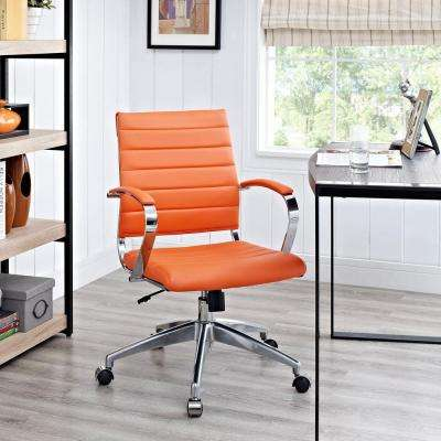 orange office chair zenergy ball replacement desk chairs home furniture jive mid back in
