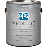 PPG 1 gal. Silver Metallic Interior Specialty Finish ...