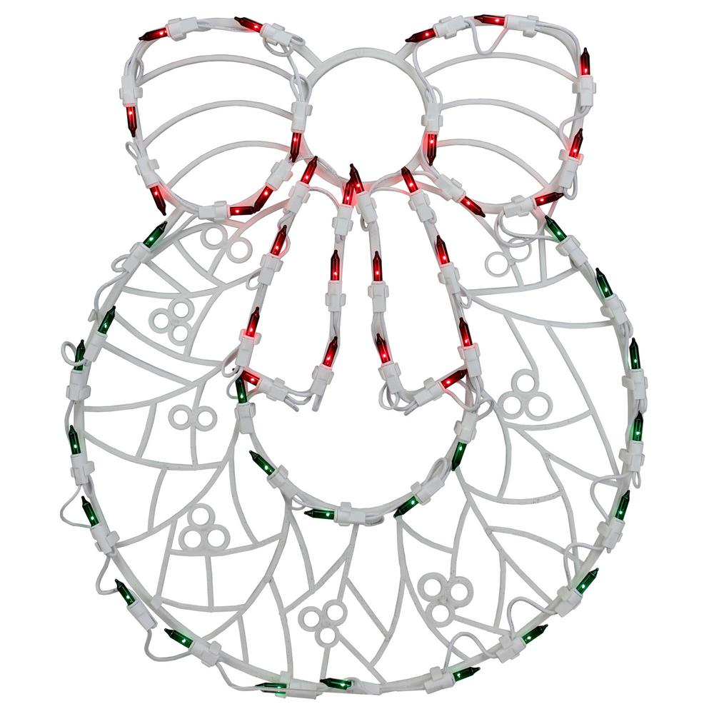 Northlight 18 in. LED Lighted Wreath Christmas Window