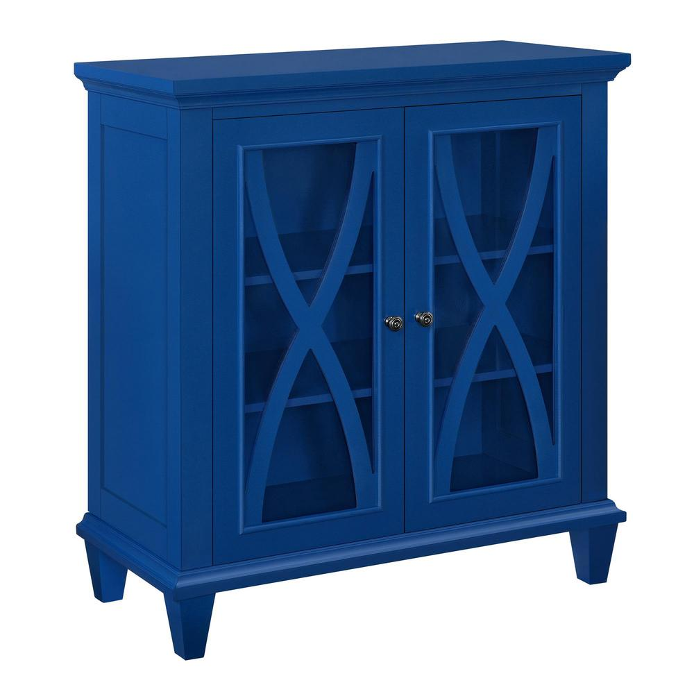Ameriwood Satinwood Navy Storage CabinetHD17702  The Home Depot