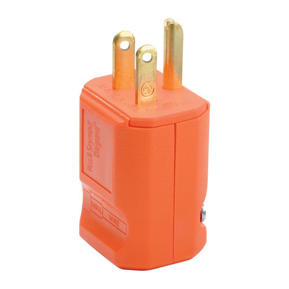medium resolution of legrand pass and seymour 15 amp 125 volt orange grip plug