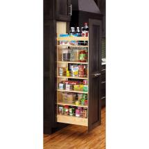 Tall Kitchen Pantry with Pull Out Cabinet Shelves