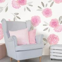 WallPOPs Pink May Flowers Wall Decal-WPK2458 - The Home Depot