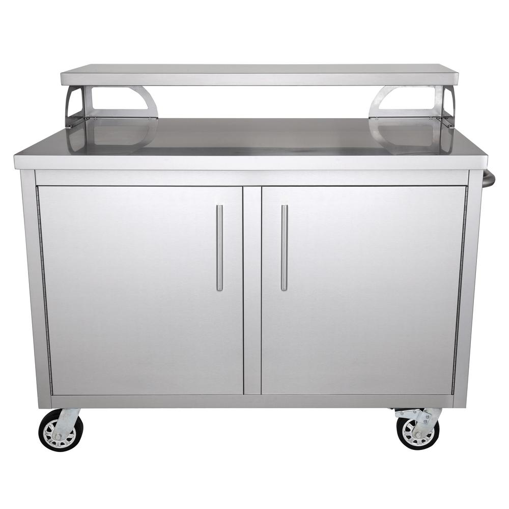 portable outdoor kitchen one handle faucet casa nico stainless steel 48 in x 43 30 cabinet and patio bar
