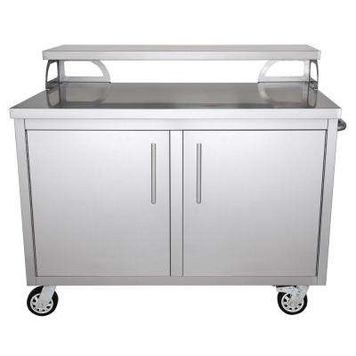 kitchen movable cabinets aid gas range 30 in outdoor storage the stainless steel 48 x 43 portable