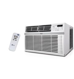 8 000 btu 115 volt window air conditioner with remote and energy star in white [ 1000 x 1000 Pixel ]