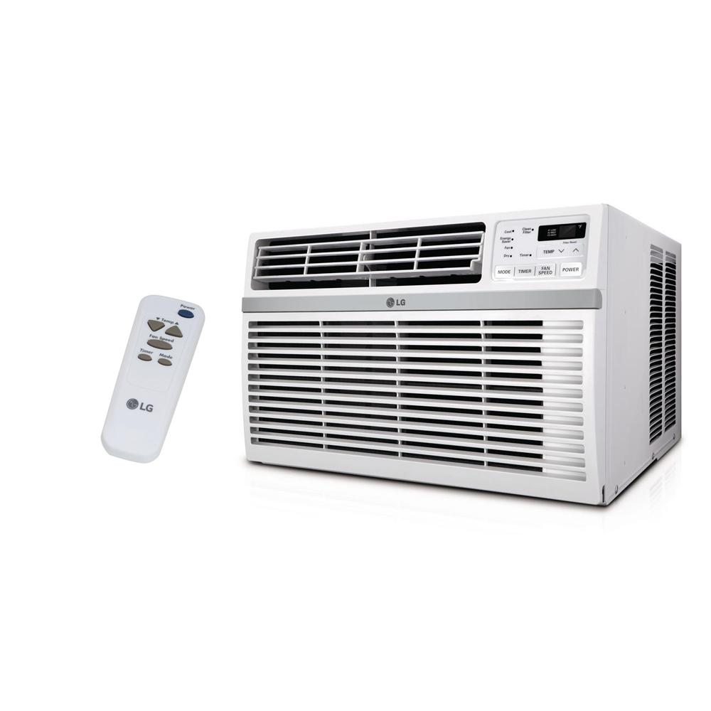 medium resolution of 8 000 btu 115 volt window air conditioner with remote and energy star in white