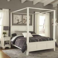 Home Styles Naples White King Canopy Bed-5530-610 - The ...