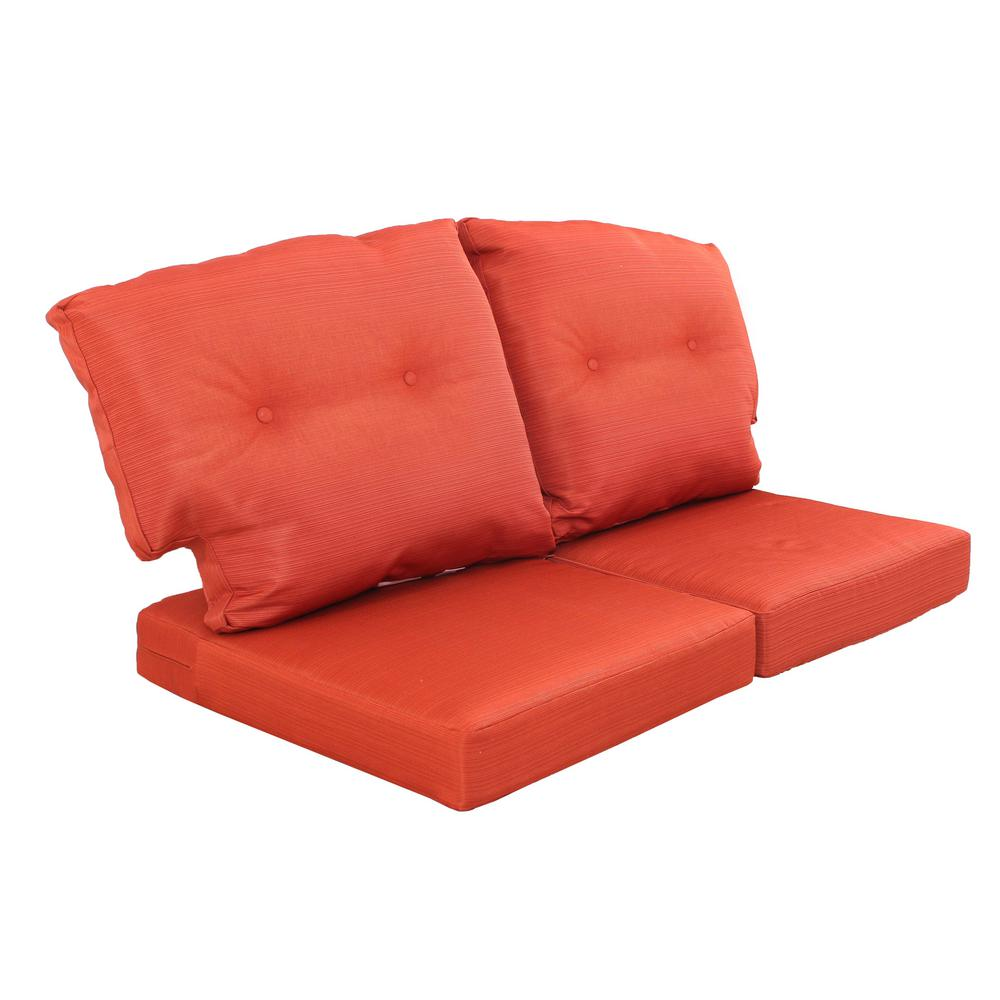 replacement cushions for sleeper sofa argos sofas leather corner martha stewart living charlottetown quarry red outdoor loveseat cushion