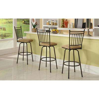 stools for kitchen price pfister treviso faucet swivel bar dining room furniture the home depot adjustable height brown cushioned stool set of 3