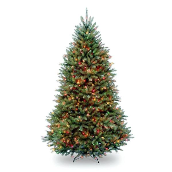 National Tree Company 7.5 Ft. Pre-lit Dunhill Fir Hinged Artificial Christmas With Multi