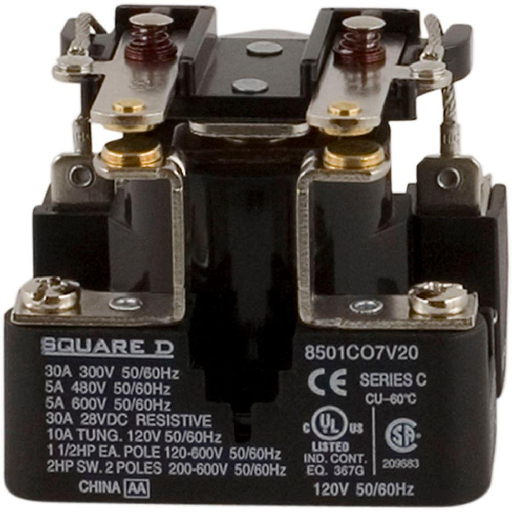 medium resolution of square d 30 amp power relay coil