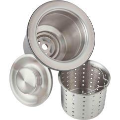 Deep Kitchen Sink Buffet Storage Elkay 3 5 In Drain With Strainer Basket And Brass Tailpiece