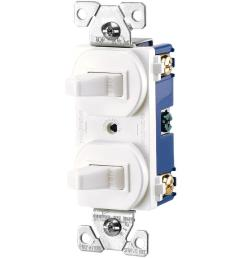 commercial grade 15 amp combination single pole toggle switch and 3 way switch white [ 1000 x 1000 Pixel ]