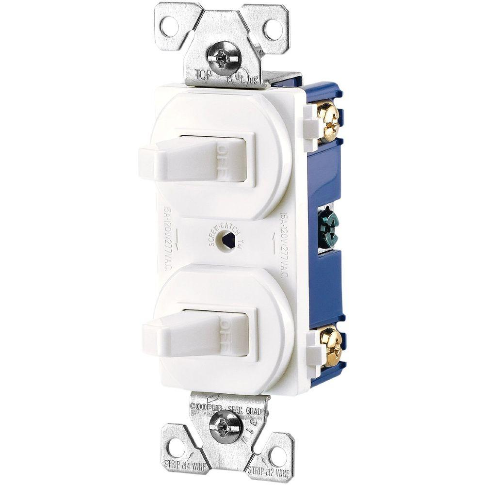 hight resolution of  white eaton switches 275w box 64 1000 eaton commercial grade 15 amp combination single pole toggle at
