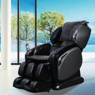 kawaii massage chair folding boat chairs for sale compression the home depot osaki black faux leather reclining