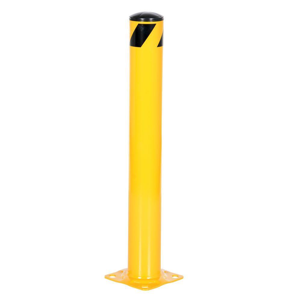 Vestil 36 In X 45 In Yellow Steel Pipe Safety Bollard