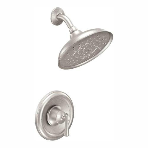 small resolution of moen ashville single handle 1 spray shower faucet with valve in spot resist brushed