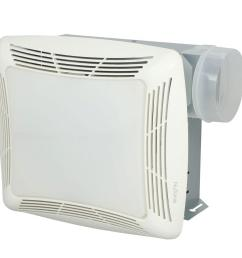 nutone 70 cfm ceiling bathroom exhaust fan with light white grille and light [ 1000 x 1000 Pixel ]