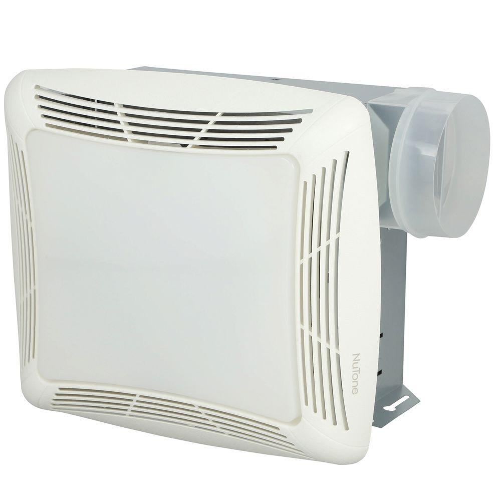 medium resolution of nutone 70 cfm ceiling bathroom exhaust fan with light white grille and light
