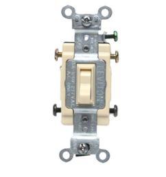 leviton 15 amp single pole toggle framed 4 way ac switch ivory r51leviton 15 amp [ 1000 x 1000 Pixel ]