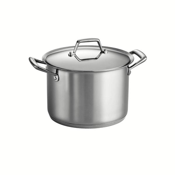 Tramontina Gourmet Prima 12 Qt. Stainless Steel Stock Pot With Lid-80101 012ds - Home Depot