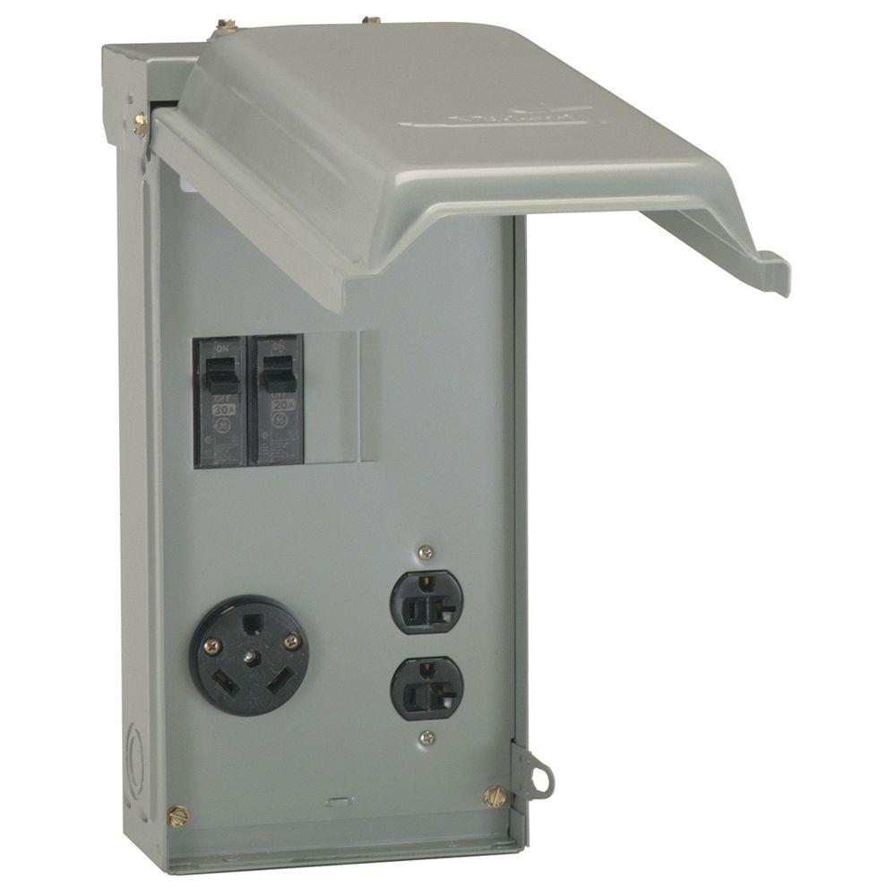 hight resolution of ge 70 amp power outlet box u041cp the home depot 30 amp fuse box hook up
